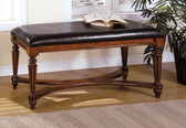 Distressed Mahogany Accent Bench
