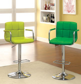 Lime and Green Swivel Bar Stools