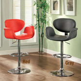 Red Gray Swivel High Stool