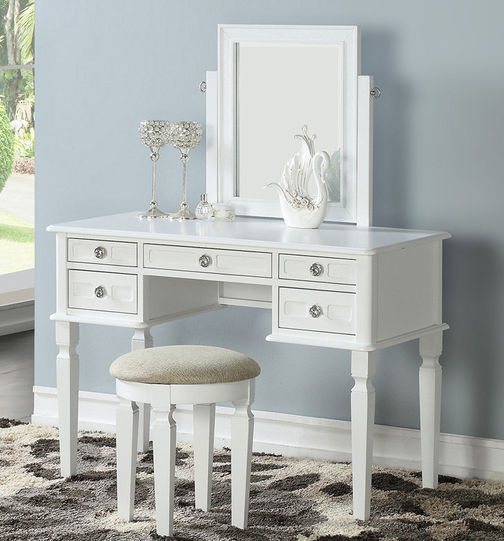 Terrific Kamori Vanity Table With Mirror Bench Cjindustries Chair Design For Home Cjindustriesco