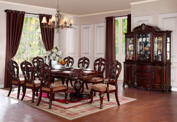 Cherry Formal Dining Table Set ... & Parthenia Cherry Formal Pedestal Dining Table Set | OCFurniture.com