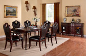 Rich Cherry Formal Dining Table Set