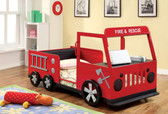 Red Twin Fire Truck Bed