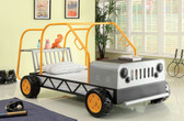 Orange Silver Twin Rover Car Bed