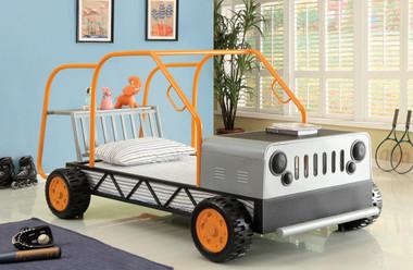 Orange Silver Rover Car Bed