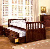 Mission Twin Platform bed with Trundle