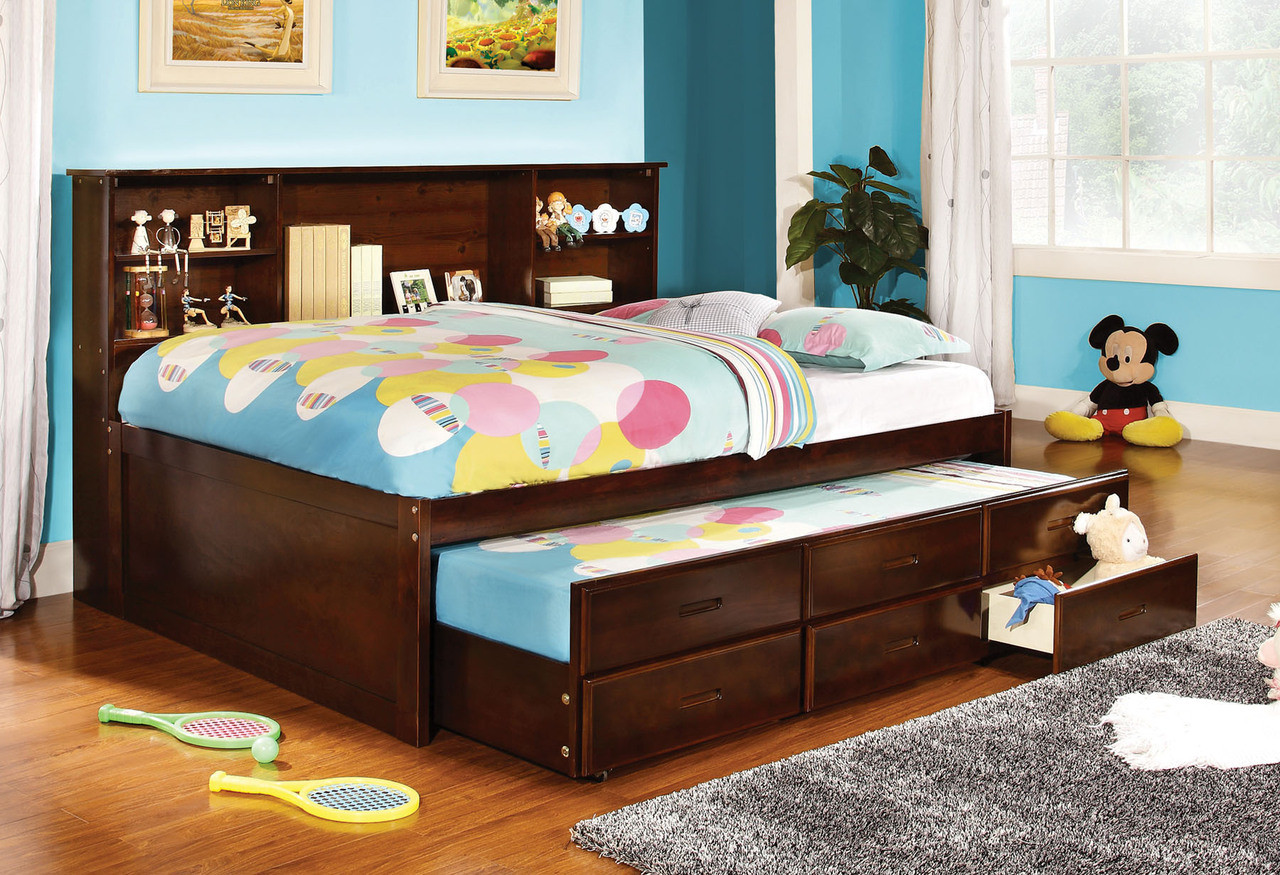 Rochester cherry full size captains bed with trundle Captains bed full
