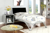Silver and Black Full Size Metal Bed