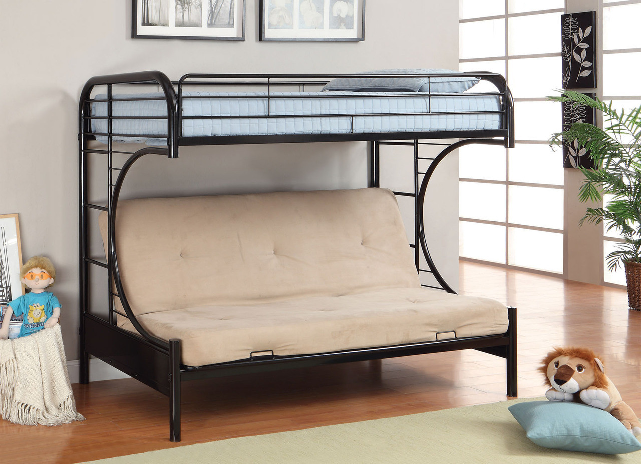 Medium image of     black metal twin futon bunk bed