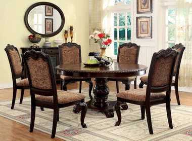 """60"""" Billagio Round Table Set with Fabric Chairs"""