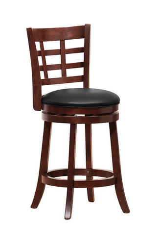 Espresso Swivel Counter Stool with Back