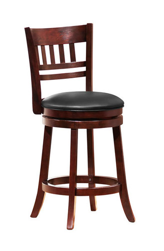 Calvin Espresso Swivel Counter Height Stool Orange County