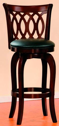 Dark Cherry Swivel Pub Chair