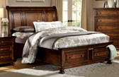 Medium Brown Queen Bed