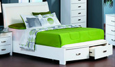 Oden White Queen Contemporary Bed