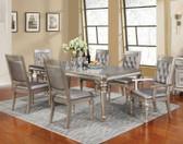 Danette Metallic Platinum Extendable Dinner Table