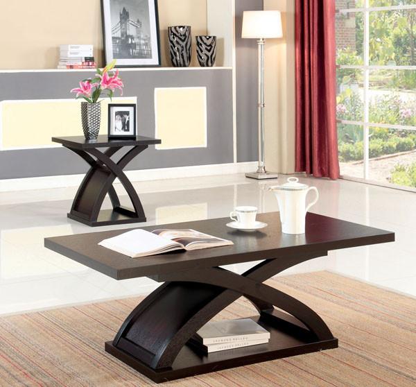 Espresso Coffee Table & Furniture of America CM4641 Caden Espresso Coffee Table