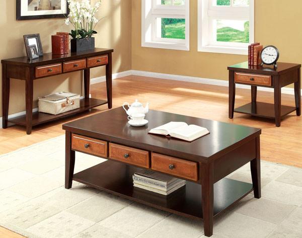 Cherry Coffee Table alhana dark oak cherry coffee table w/ drawers