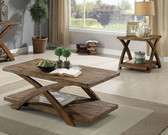 Bryanna CM4178 3PC Coffee and End Table Set in Antique light oak