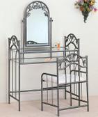 Nickel Bronze Makeup Vanity Table Set