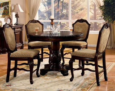Espresso Counter Height Table Set