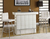 Glass Top White Bar Table
