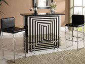 Chrome Black Bar Table