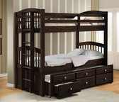 Espresso Twin Bunk Bed w/ Trundle