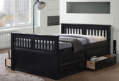 Gary Mission Wood Full Size Bed | Versatile Full Size Bed with Optional Under Bed Drawers