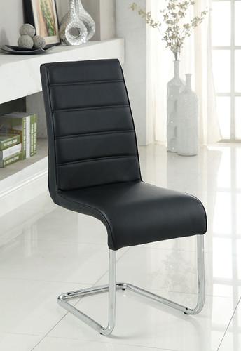 Black Leatherette Chrome Chairs