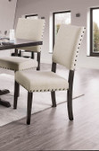 Glenbrook Rustic Brown Cherry Frame w/ Ivory Upholstered Seat and Back