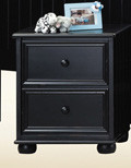 Dillon Black 2-Drawer Nightstand