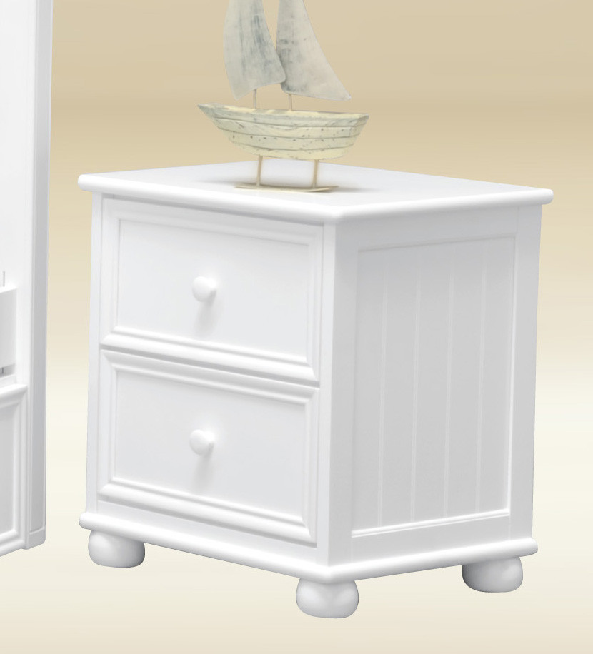 ... Dillon White 2 Drawer Nightstand