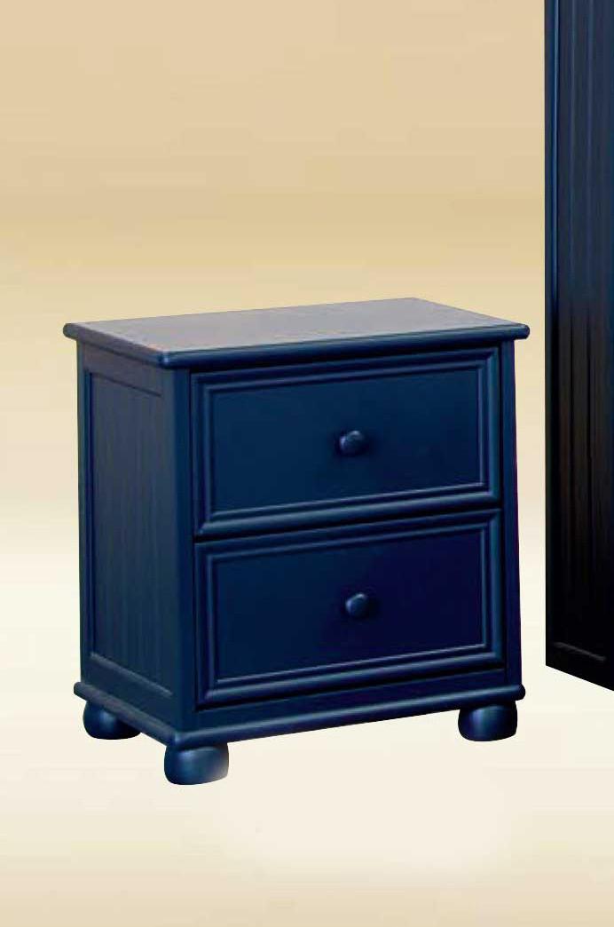 Dillon Beadboard 2 Drawer Nightstand In White Gray Blue