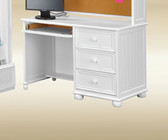 White Computer Desk With Drawers | Matching Accessory
