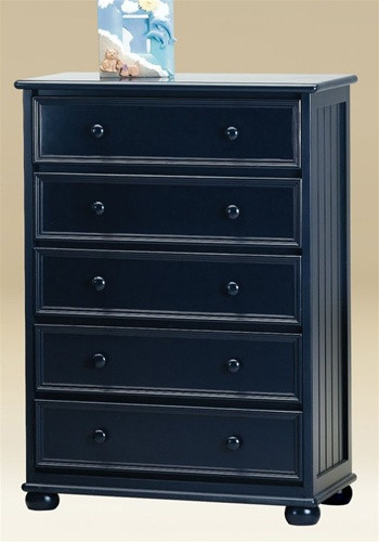 Dillon 5 Drawer Chest Of Drawers In White Gray Black Blue