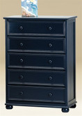 Navy Blue 5-Drawer Chest of Drawers