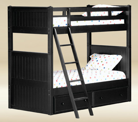 Dillon Navy Blue Twin Over Twin Bunk Bed Blue Bunk Beds