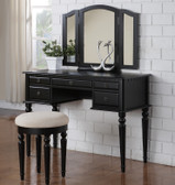 Christine Makeup Vanity Table Set in Black