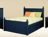 Navy Blue Bead Board Full Size Bed