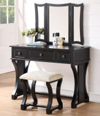 Dulce White Vanity Desk with Mirror