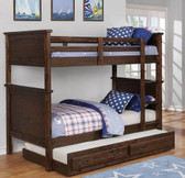 Liam Brown Twin over Twin Double Decker Bed
