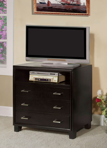 Espresso Wood Tv Chest With Drawers 7088tv