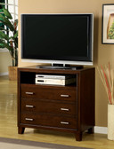Brown Cherry Wood TV Chest with Drawers 7068TV