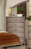Rustic Natural Tone 5-Drawer Chest