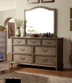 Rustic Natural Tone Wood 7-Drawer Dresser