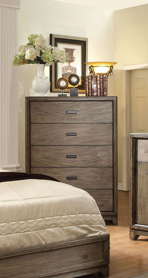 5 Drawer Chest In Natural Ash Finish 7615c Orange County