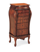 Donna Cherry Jewelry Armoire with Drawers