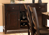 Cabinet with 2 Wine Racks in Warm Merlot Finish