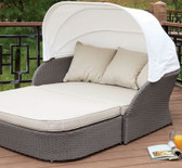 Furniture of America OS2107 Outdoor Patio Canopy Daybed | Outdoor Daybed with Awning